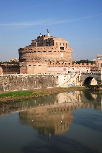 Angel´s castle, Castel Sant ´ Angelo, Rome, Italy : Stock Photo