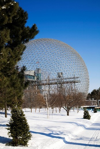 Stock Photo: 1848R-339442 Biosphere Montreal, Quebec, Canada