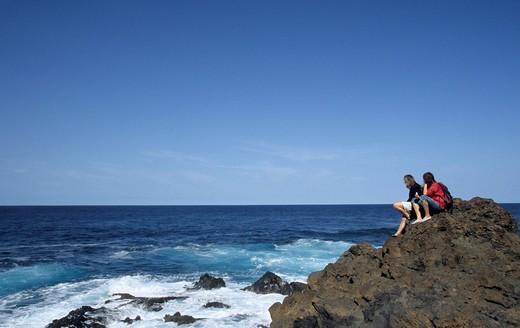 Stock Photo: 1848R-340044 Coast near La Fajana, La Palma, Canary Islands, Spain, Europe