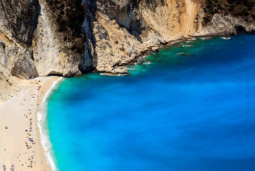 Mitros beach, swimming bay with sandy beach Kefalonia, Ionian Islands, Greece : Stock Photo