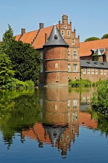 Caste Herten, Ruhr area, North Rhine-Westphalia, NRW, Germany : Stock Photo