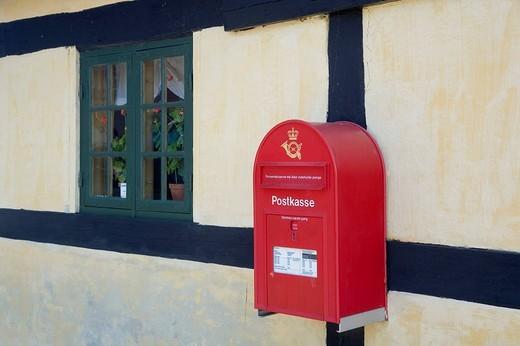 Wall mounted post box, Denmark : Stock Photo