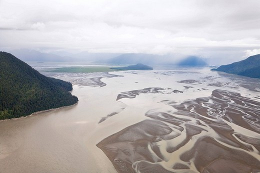 Stock Photo: 1848R-342552 Aerial view, Inside Passage, south of Wrangell, Southeast Alaska, Alaska, USA, North America