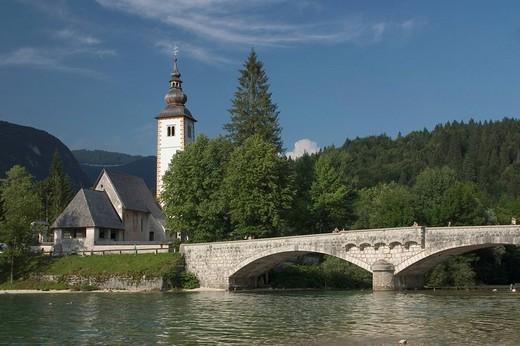 Church of St  John the Baptist, Bohinj, Slovenia : Stock Photo