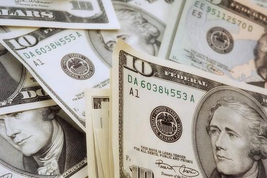 U S  dollar bills : Stock Photo