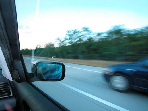 Riving on the highway : Stock Photo