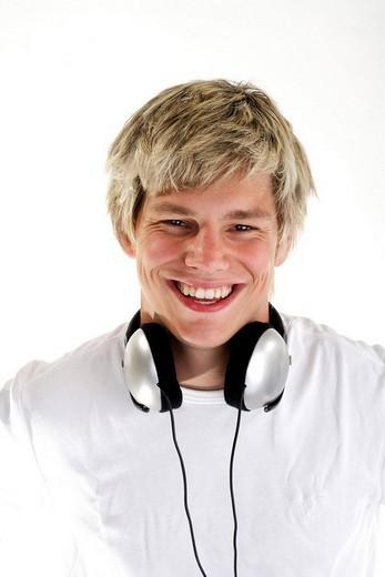 Stock Photo: 1848R-344225 DJ with headphones