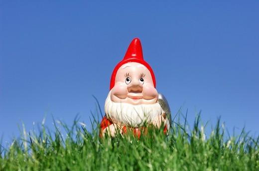 Stock Photo: 1848R-344884 Garden gnome