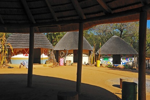 Village for presentation in Sun City, Province North-West, South Africa : Stock Photo