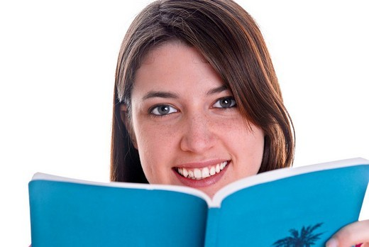 Stock Photo: 1848R-345402 Woman reading a book
