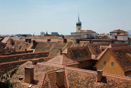 Roof view about Graz, Styria, Austria : Stock Photo