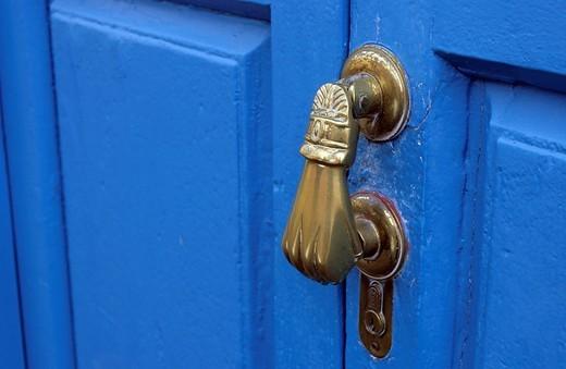 Doorknockers knockers in Los Llanos La Palma Canary Islands Spain : Stock Photo