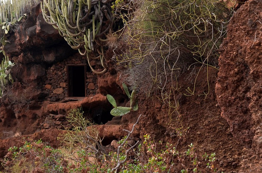 Stock Photo: 1848R-346550 Earth-house in La Palma, Canary Islands, Spain, Europe
