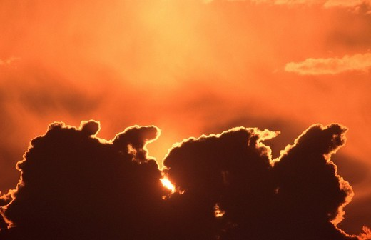 Cloud at sun rise : Stock Photo