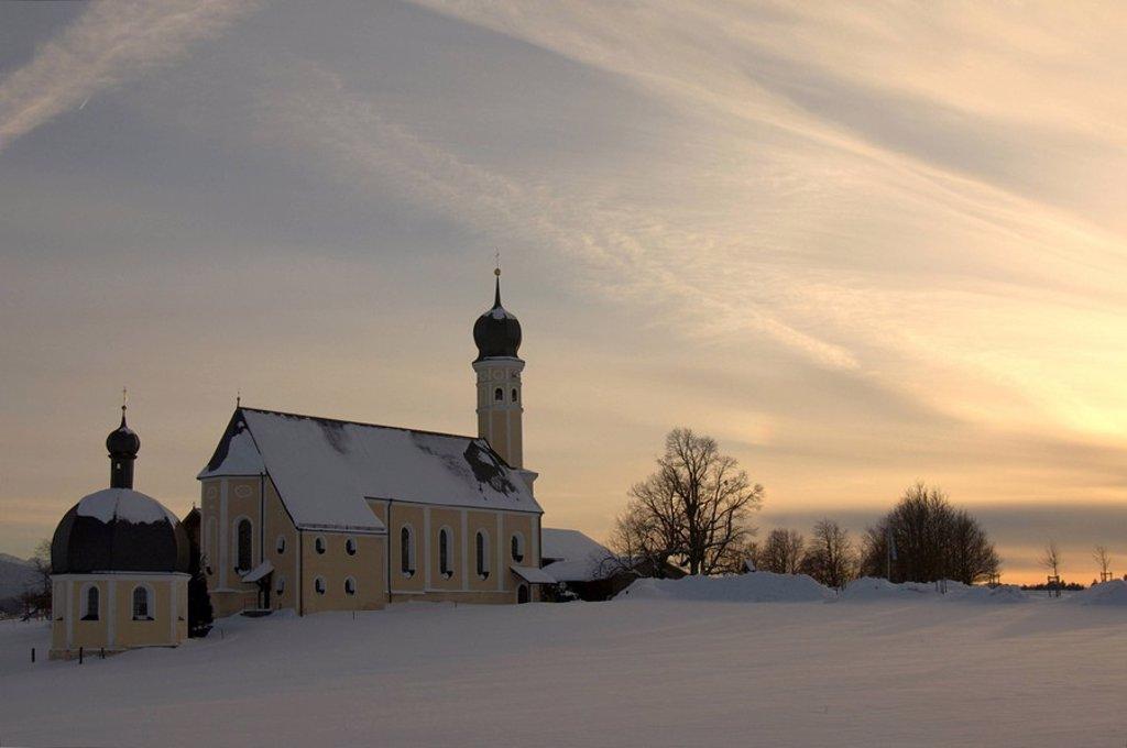 Stock Photo: 1848R-348236 Pilgrimage church Wilparting near Irschenberg, Upper Bavaria