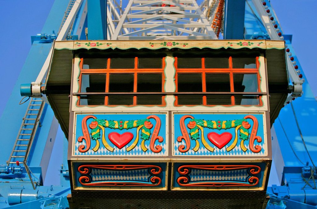 Stock Photo: 1848R-348324 Ferris wheel detail, Oktoberfest, Munich, Bavaria, Germany, Europe