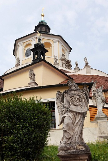 Bergkirche church and calvary, Eisenstadt, Burgenland, Austria, Europe : Stock Photo