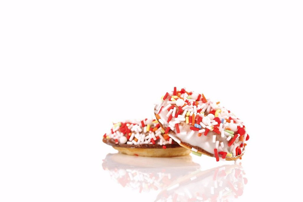 Stock Photo: 1848R-350633 Colourful doughnuts