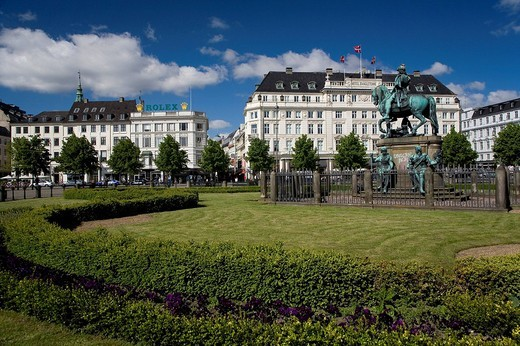 The old famous Hotel D´Angleterre in Copenhagen, Denmark, Europe : Stock Photo