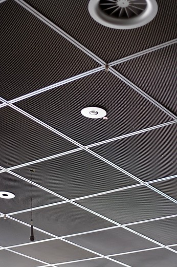 Stock Photo: 1848R-352092 Airport ceiling