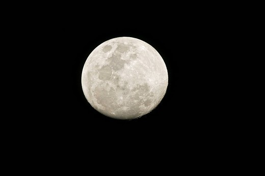 Stock Photo: 1848R-352773 Moon, southern hemisphere, Botswana, Africa