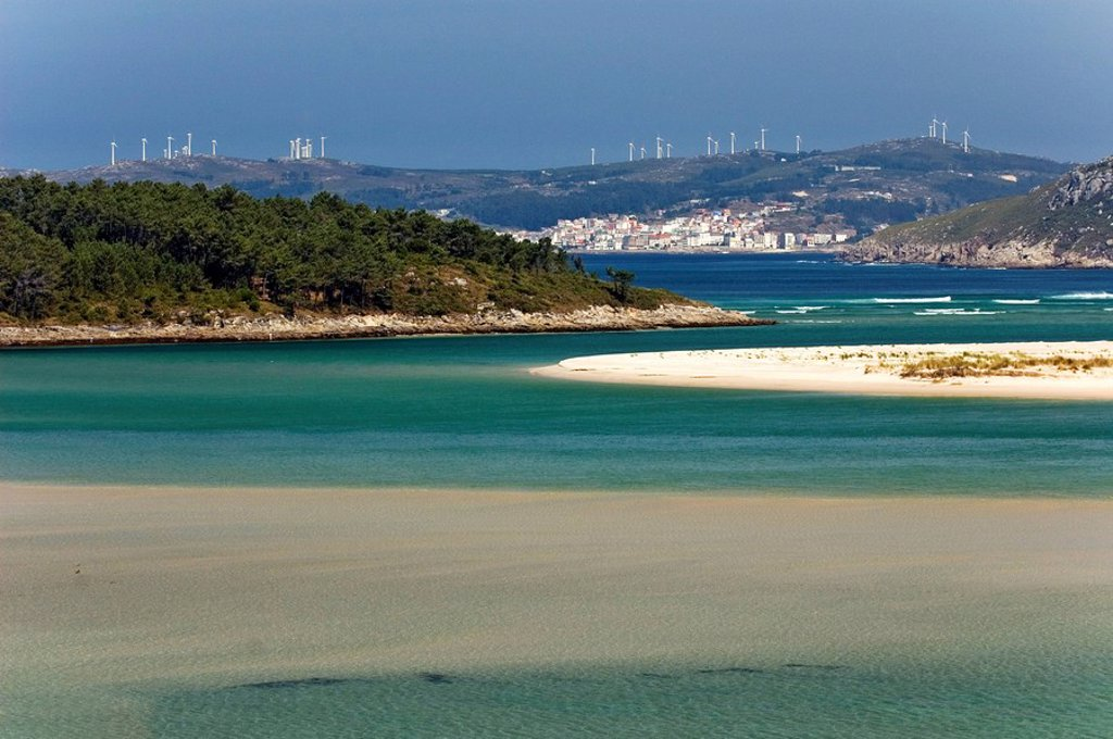 South Sea flair at the death coastline, Galicia, Spain : Stock Photo
