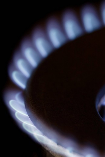 Stock Photo: 1848R-353842 Gas flame