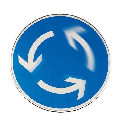 Traffic sign: roundabout : Stock Photo