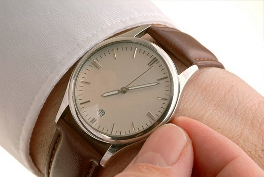 Setting the watch : Stock Photo