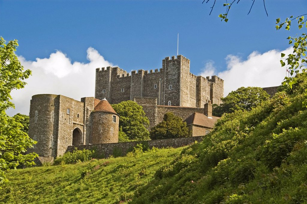 Stock Photo: 1848R-360291 Dover Castle, Dover, Kent, South England, England, Great Britain