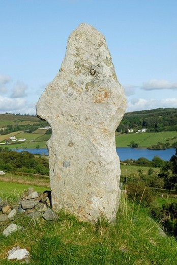 Stock Photo: 1848R-362779 Remains of historic highcross at the holy well of Saint Columcille near Church Hill, Co Donegal Ireland