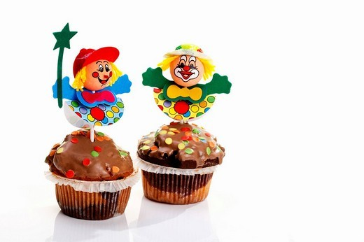 Stock Photo: 1848R-363354 Carnival figures on muffins