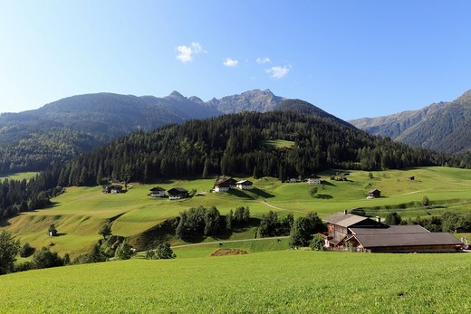 Lesachtal near Maria Luggau, Carnic Alps, Carinthia, Austria, Europe : Stock Photo