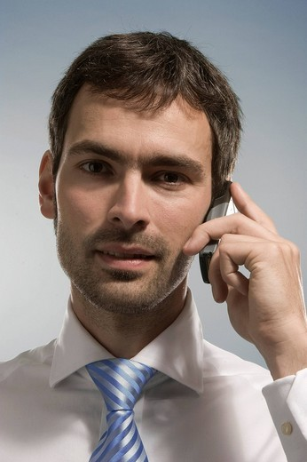 Businessman making a telephone call : Stock Photo