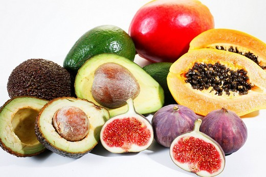 Stock Photo: 1848R-368994 Mixed exotic fruits