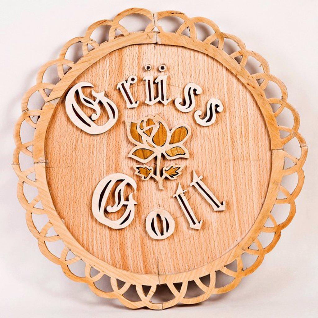 Stock Photo: 1848R-370209 Fretwork - Gruess Gott -