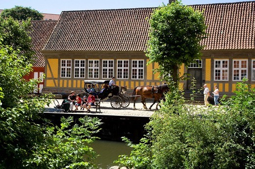 The Old Town open_air museum, Jutland, Denmark : Stock Photo