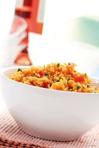 Bowl of Djuvec rice : Stock Photo