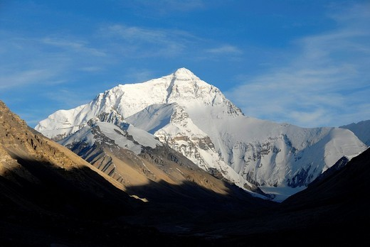 Mt  Everest Chomolungma Tibet China : Stock Photo