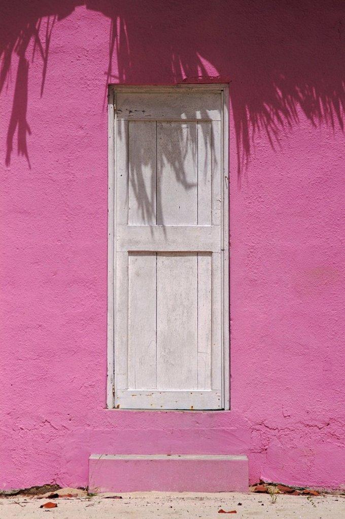 Door, beach house, Isla Catalina, Dominican Republic : Stock Photo