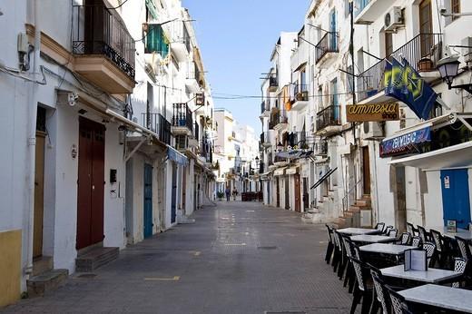 Stock Photo: 1848R-374284 Old town of Eivissa, Ibiza, Baleares, Spain