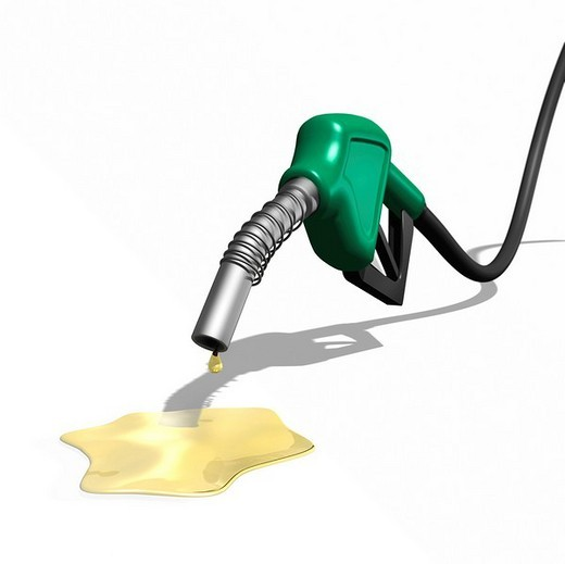 Stock Photo: 1848R-374920 Last drops of gasoline coming out of a gas station nozzle, illustration