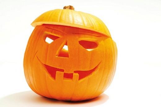 Stock Photo: 1848R-375530 Carved Halloween pumpkin, Jack-o-Lantern