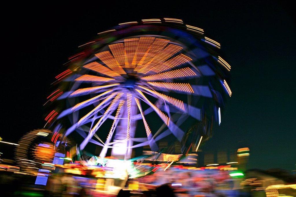Wind Wheel Carousel, Oktoberfest, Munich, Bavaria, Germany, Europe : Stock Photo
