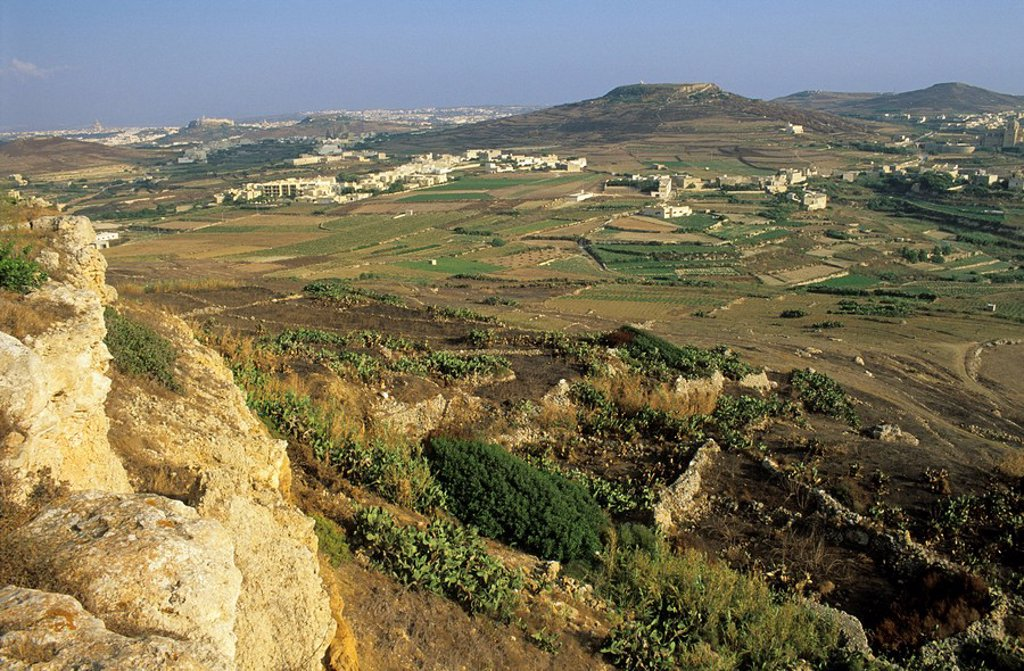 View over Gozo island, Malta : Stock Photo