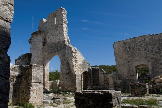 Stock Photo: 1848R-379311 Castle ruin Dvigrad, Kanfanar, Istria, Coratia