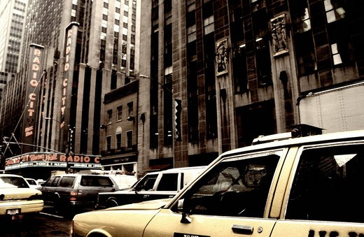 Stock Photo: 1848R-379383 Taxi in New York