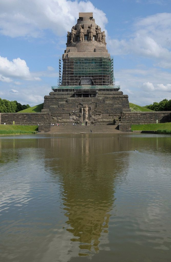 Stock Photo: 1848R-382020 Voelkerschlachtdenkmal, Monument to the Battle of the Nations, Leipzig, Saxony, Germany, Europe