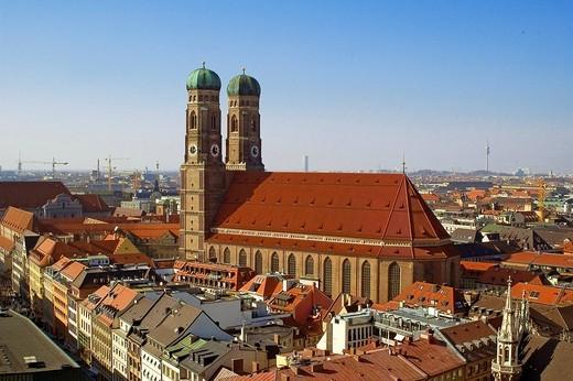Frauenkirche, Munich, Bavaria, Germany : Stock Photo