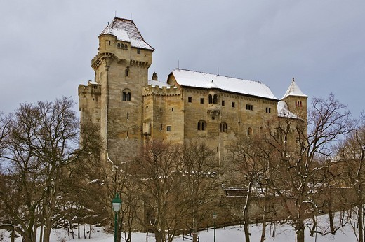 Castle Liechtenstein at Maria Enzersdorf Lower Austria : Stock Photo